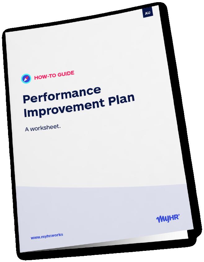 MyHR_AU Performance Improvement Plan - Book Mockup