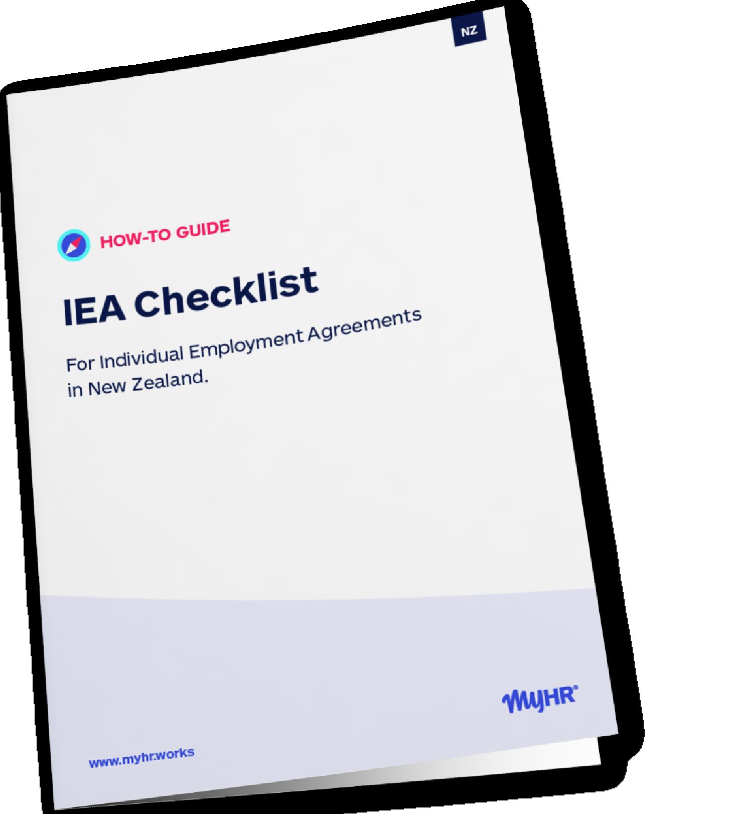 MyHR_NZ IEA Checklist Mockup